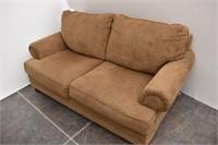 ASHLEY Furniture Chenille Love Seat w/ 2-Pillows
