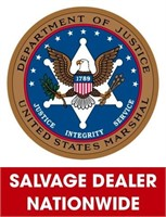 U.S. Marshals (Salvage Dealer Only) ending 6/1/2021