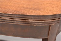 Half Moon Table Converts to Game Table