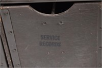 US Military Field Headquarters Records File Trunk