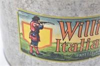 William Tell Italian Prunes  Vintage Tin Can
