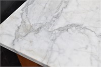 Rolling Kitchen Island w/ Marble Top (as-is)