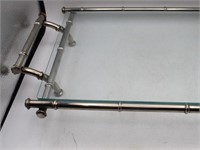 French Style Metal & Glass Serving Tray