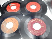 Large Collection of 45RPM Records & Record Holder