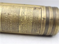 Antique Pyrene Brass 1-Qt Hand Fire Extinguisher