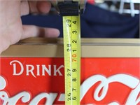 Coca-Cola Bubble Glass Style Light-wt Plastic Sign