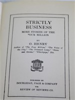 (6) Antique Books by O. HENRY