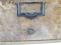 Antique Tiger Oak Card Catalog File Drawer
