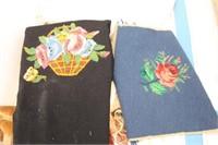 Vtg. Scarves, Pillow Cover, Fringed Afghan, Table