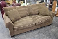 Microfiber Sofa with Matching Pillows