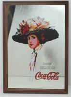 "COCA-COLA ""Hamilton Girl"" Advertising Mirror"