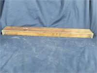 STANLEY Rule & Level Co Wood Level w Brass Plate