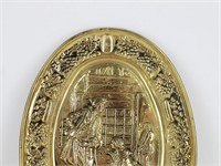 ELPEC England Hammered Brass Wall Plaque