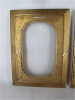 (2) Curved Bubble Glass in Dressy Gold Frames