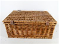 Pier 1 Wicker Picnic Basket for Two-Wine Glasses..