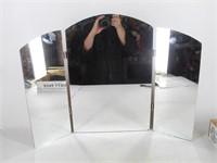 Triple Folding Vanity or Barber Mirror