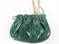 Green Geniune Eel Skin Handbag