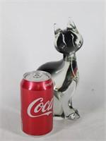 Murano Art Glass Sitting Cat Figurine