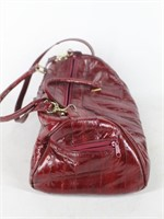 Red Genuine Eel Skin Handbag Purse