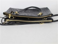 Calvin Klein Black Embossed Handbag Purse