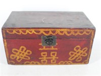 Asian Style Red Painted Decor Box