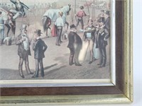 """""""THE DISPUTED HEAT"""" Horse Racing Currier & Ives"""