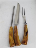 REAL-KEEN Bakelite Handle Carving Set &