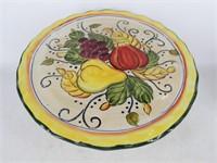 Fruit Harvest Colorful Pedestal Cake Stand Plate