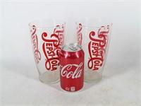 Pair of Large 16oz Pepsi-Cola Glasses