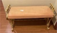 Wrought Iron Bench, Stool, Shelf