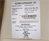 "Acorn 130 Power Stair Lift, 117"" Track"