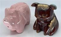 2 - Vintage Piggy Banks