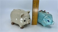 6 - Vintage Piggy Banks