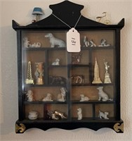 Miniatures and Display Case