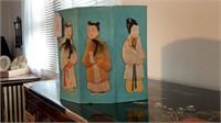 Handmade Silk Octagonal Screen