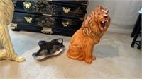 Life-size Borzoi Statue, Lion, Panther