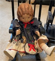 Antique Doll, Chair, Bench