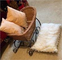 Antique Baby Doll and Carriage