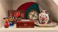 Asian Decor Plates, Boxes, etc.