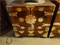 Asian Wood & Brass Chest