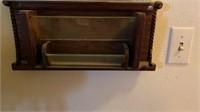 Vintage Mirror Mail Tray
