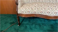Small Vintage Upholstered Love Seat