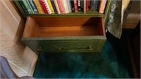 Green Bookshelf w/ Drawer