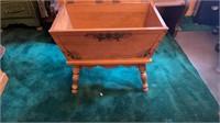 Vintage Maple Dough Box End Table