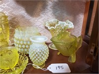 Asst. Vintage Yellow Glassware
