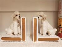 Ceramic Poodle Bookends