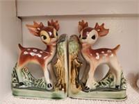 Ceramic Deer Bookends