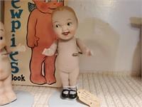 2 - Bisque Porcelain Dolls & Kewpie Book