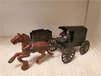 Cast Iron Horse & Buggy, Train Car