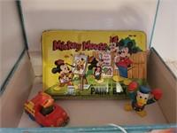 Vintage Smurfs, Mickey Mouse Paint Box, etc.